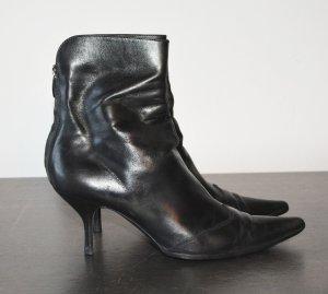 Sergio Rossi Stiefeletten Stiefel Gr. 40 Leder Spitz Ankle Boots