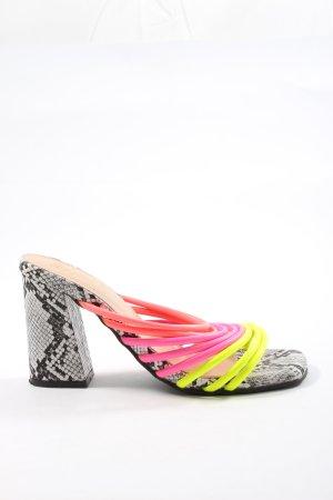 Sergio Todzi Heel Pantolettes multicolored