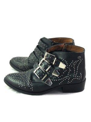 Sergio Todzi Schwarz Stiefel Damen Women Black Boots aus France, Gr. 39 Neu 38,00 €