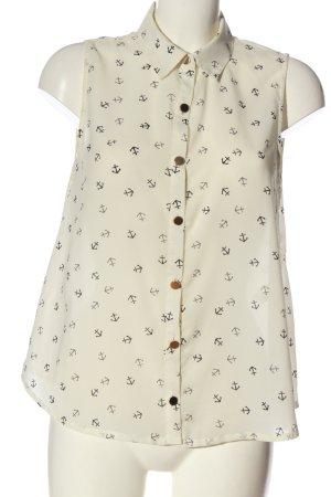 Serious sally Shirt Blouse cream allover print elegant