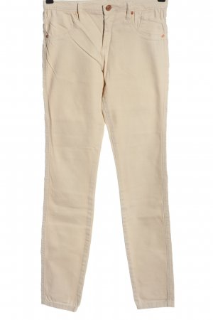 Serious sally Tube Jeans cream casual look
