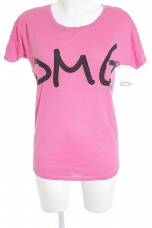 Serious sally T-Shirt pink printed lettering street-fashion look
