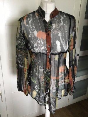 Serpil Blusa de seda multicolor Seda