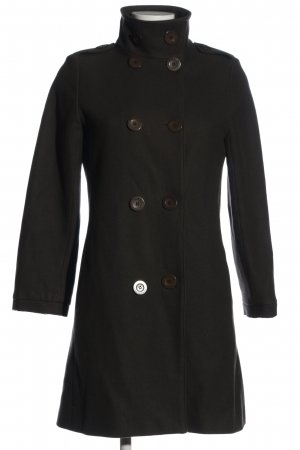Sessun bodenlanger Mantel dunkelbraun Casual-Look