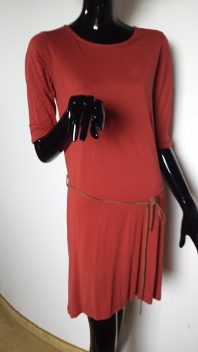 Sessun Vestido ceñido de tubo rojo claro lyocell