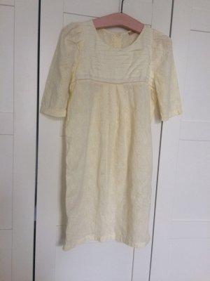 Sessun Kleid French Französisch Lochspitze weiss Creme