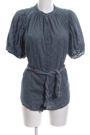 Sessun Kurzarm-Bluse blau Casual-Look