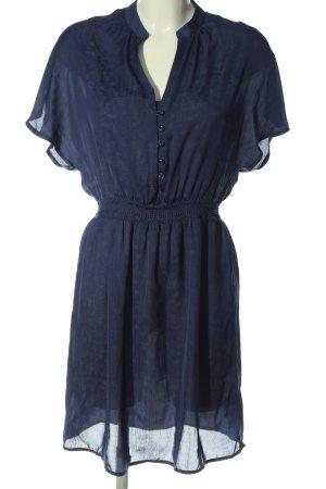 Sessun Vestido de manga corta azul estampado repetido sobre toda la superficie