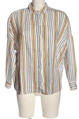 Sessun Langarm-Bluse weiß-bronzefarben Streifenmuster Casual-Look