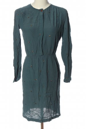 Sessun Vestido de manga larga azul estampado repetido sobre toda la superficie