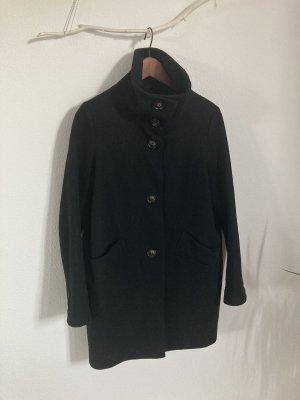 Sessun Abrigo de lana negro