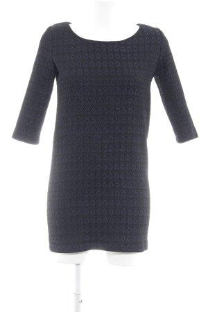 Sessun Midikleid schwarz-dunkelblau abstraktes Muster Elegant