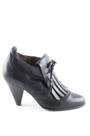 Sessun Reißverschluss-Stiefeletten schwarz Elegant