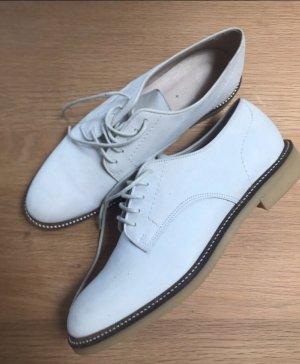 Sessun Zapatos brogue blanco Cuero