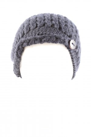 Sessun Sombrero de punto gris claro punto trenzado look casual