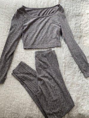 Bershka Twin set in jersey grigio