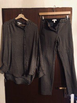 H&M Woven Twin Set dark brown-white