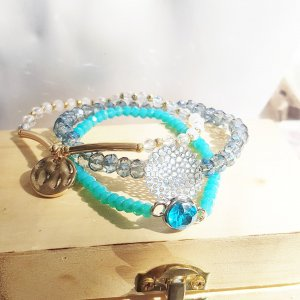 Pearl Bracelet gold-colored-turquoise