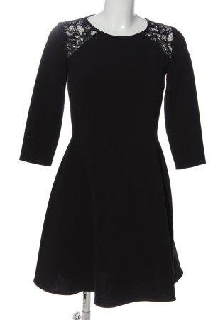 Set A-Linien Kleid schwarz Casual-Look