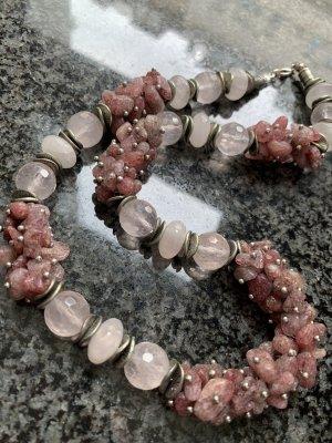 Set aus Halskette, Armband und Ohrringen