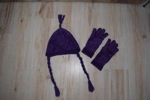 Tchibo / TCM Gants polaires violet-violet foncé polyester