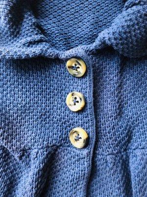 Set, ausgefallene Strickjacke, Grobstrick, mit Knöpfen, Kragen, passend zu Jeans/Hosen und Röcken, Grösse 36