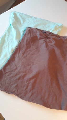 Corsage Top brown-pale green