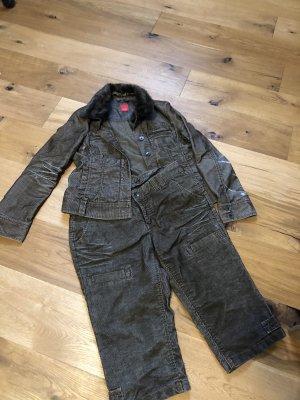 Esprit Tailleur pantalone marrone-nero