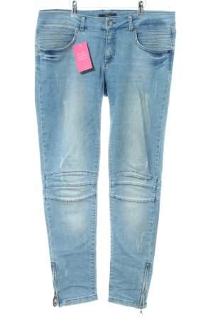 Set Bikerjeans blau Casual-Look