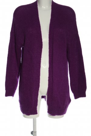 Set Cardigan lilac cable stitch elegant