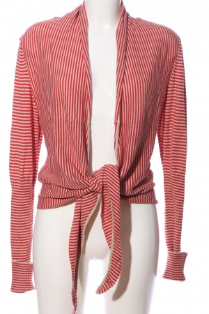 Set Cardigan rot-wollweiß Allover-Druck Casual-Look