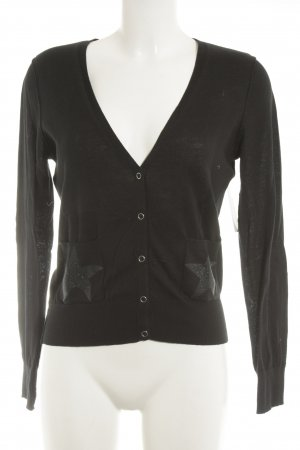 Set Cardigan schwarz Casual-Look