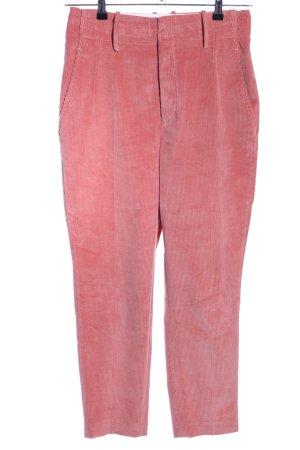 Set Pantalon en velours côtelé rose style décontracté
