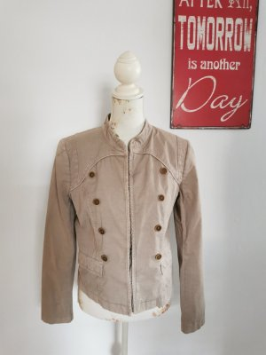 SET Damen Übergangsjacke Militäry Design Jacke beige Größe 40