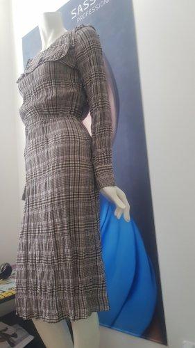 SET Designer kleid karo viskose mit etikette 34