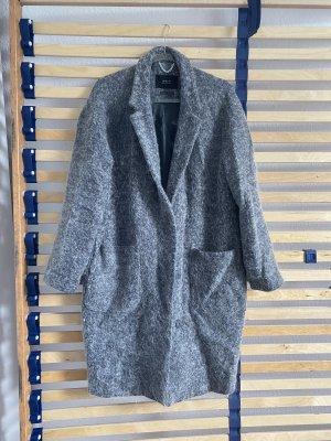 Set fashion Mantel wolle grau Blazer oversize Gr. 38