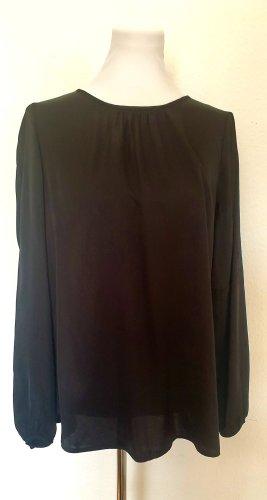 SET Fashion Satin Langarmbluse Blusen Shirt Gr 40