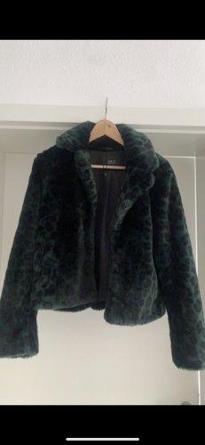 Set Fashion Futrzana kurtka czarny-leśna zieleń