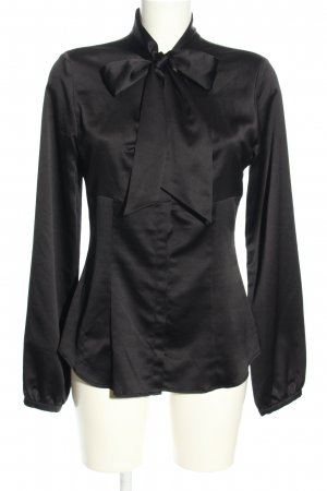 Set Blouse brillante noir style d'affaires