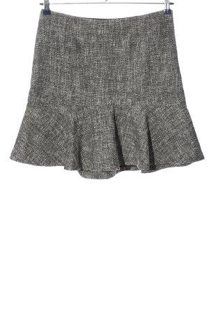 Set Rozkloszowana spódnica czarny-w kolorze białej wełny W stylu casual