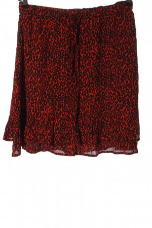 Set Falda acampanada rojo-negro estampado repetido sobre toda la superficie