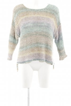 Set Crochet Sweater striped pattern casual look