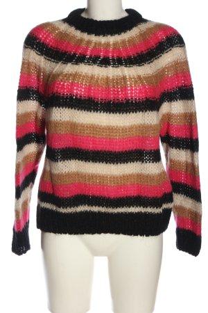 Set Crochet Sweater striped pattern casual look