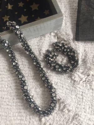 Lizas Collar gris-color plata