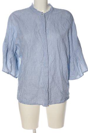 Set Hemd-Bluse blau-weiß Streifenmuster Casual-Look