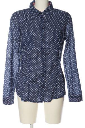 Set Koszulowa bluzka niebieski-biały Wzór w kropki W stylu casual