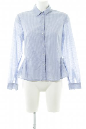 Set Hemd-Bluse blau-weiß Streifenmuster Business-Look