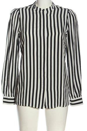 Set Hemd-Bluse schwarz-weiß Allover-Druck Casual-Look