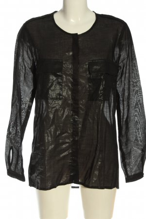 Set Blusa-camisa negro look casual