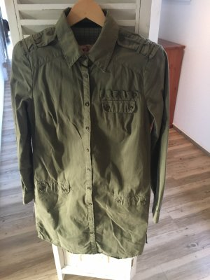 Set Vestido tipo blusón verde oliva-caqui